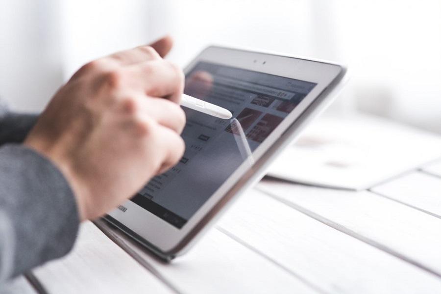 Tablet digitaler Vertrieb